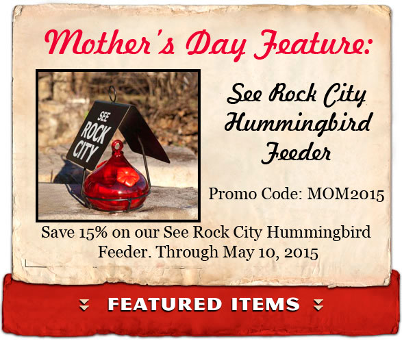 Mother's Day Homepage Hummingbird Feeder Discount